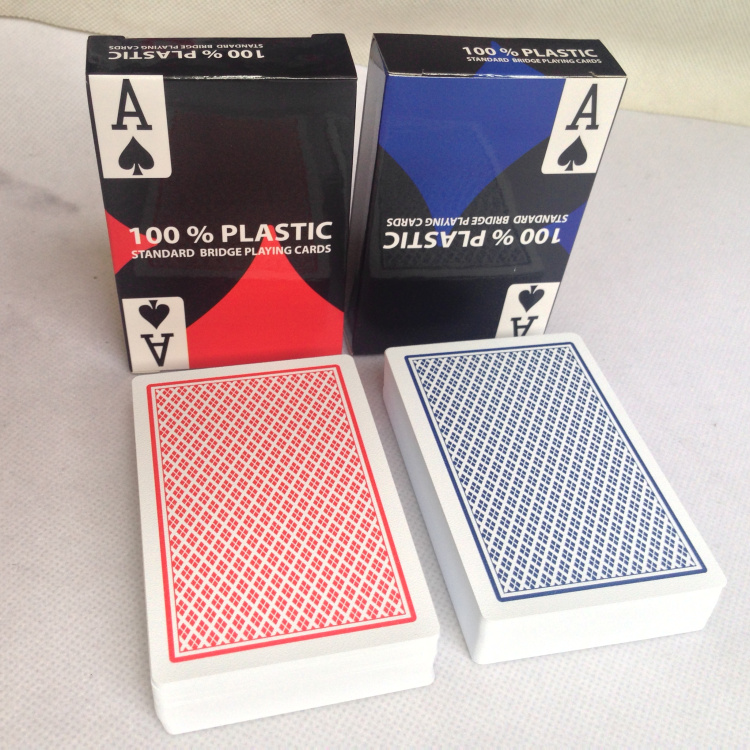 Matt Finish Texas Holdem BRIDGE SIZE PLAYING CARDS 100% Plastic Poker Cards Plastic Cards Entertainment Drinking Game Cards(China)