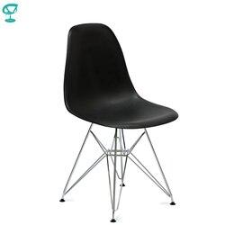 94520 Barneo N-12-14 пластиковый кухонный стул на металлических ножках интерьерный стул мебель для кухни столовый стул цвет черный обеденный стул б...