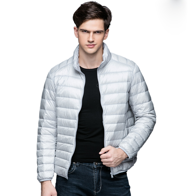 87ea9a4ed40 New Autumn Winter Man Duck Down Jacket Ultra Light Thin Plus Size Spring  Jackets Men Stand Collar Outerwear Coat-in Down Jackets from Men s Clothing  on ...