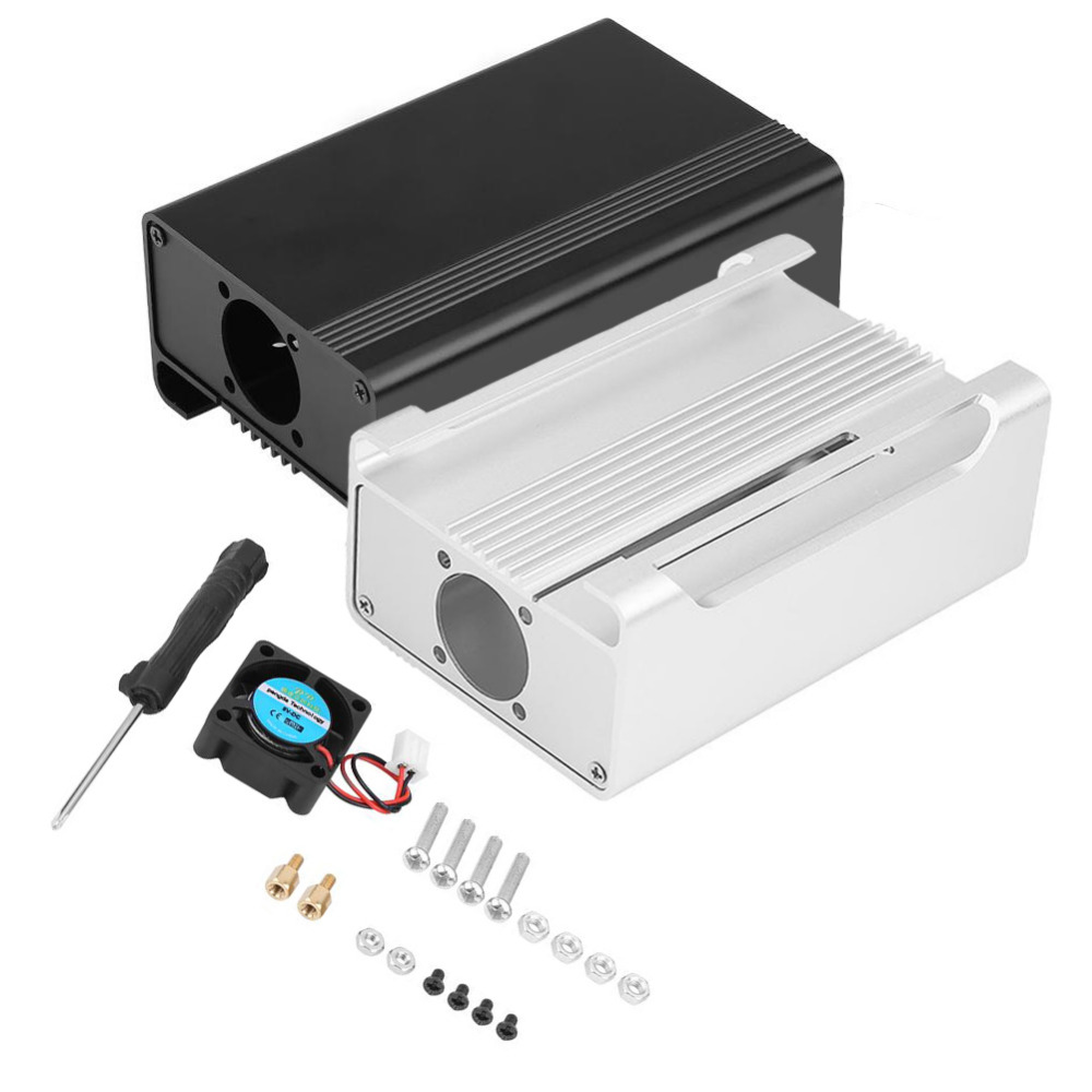 Boîtier en alliage Avec Ventilateur De Refroidissement pour Raspberry Pi 3B/2B/B + Étui de protection Shell Pour Framboise Démo conseil Accessoires