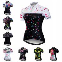 2018 Women's   Cycling     Jersey   Short Sleeve Mountain Bike   Jersey   Race Fit Ladies   Cycling   Clothing Full Zipper Bicycle Shirt Top
