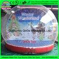 Праздник снеговик пвх гигантские надувные украшения снежок, снежный шар на продажу, пустой снежный шар
