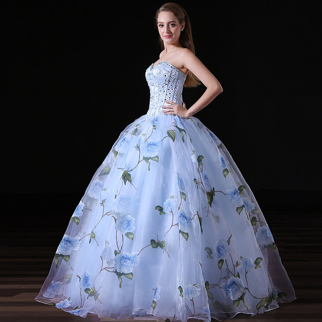 Online Shop NIXUANYUAN 2018 New Design Organza Floral Print Princess ...