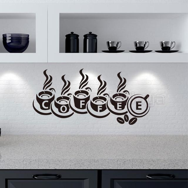 Stickers Coffee Cups Cuisine Vinyl Wall Sticker Decals Murals Wall ...