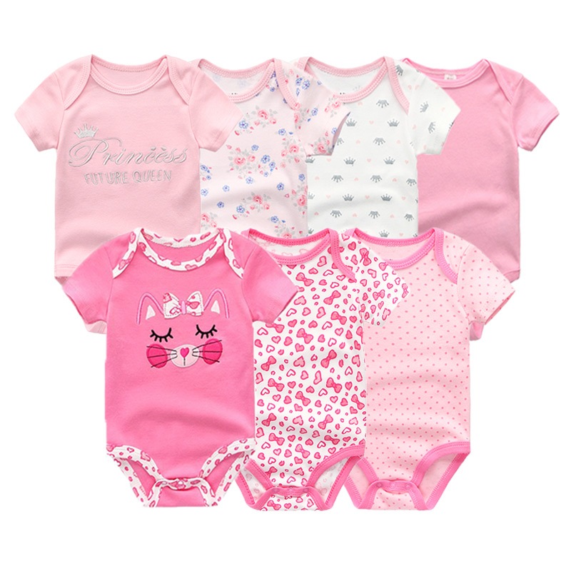 HTB1jTaqXdfvK1RjSszhq6AcGFXaK Top Quality 7PCS/LOT Baby Boys Girls Clothes 2019 Fashion Roupas de bebe Clothing Newborn rompers Overall baby girl jumpsuit