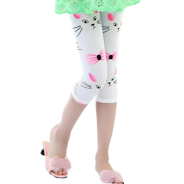 Sportlegging Kids.2017 Summer Girls Leggings Clothes Kids Children Flower Printed