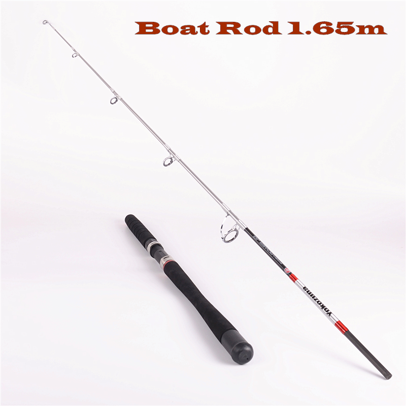 New high-carbon 1.65 m 50 lb 2 section fishing rod superhard jig boat rods fishing tackle hooded solid color inclined button design long sleeve hoodie for men