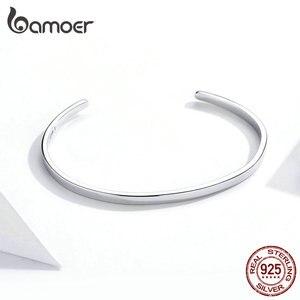 """Image 3 - Bamoer gravür cesaret bileklik """"hiçbir şey imkansız"""" moda sıcak satış 925 ayar gümüş takı erkekler ve kadınlar için SCB160"""