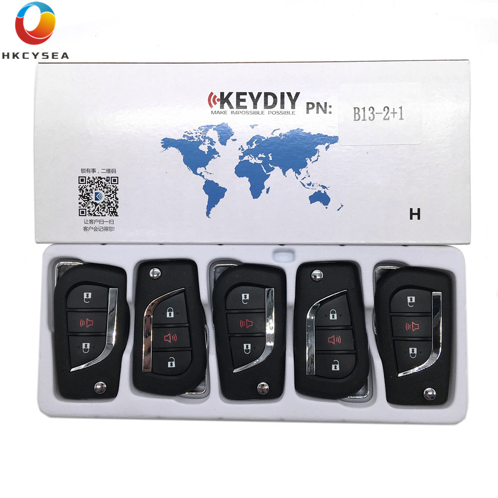 HKCYSEA 5PCS LOT Universal KEYDIY B Series 2 1 Button Remote Key Control B13 2 1