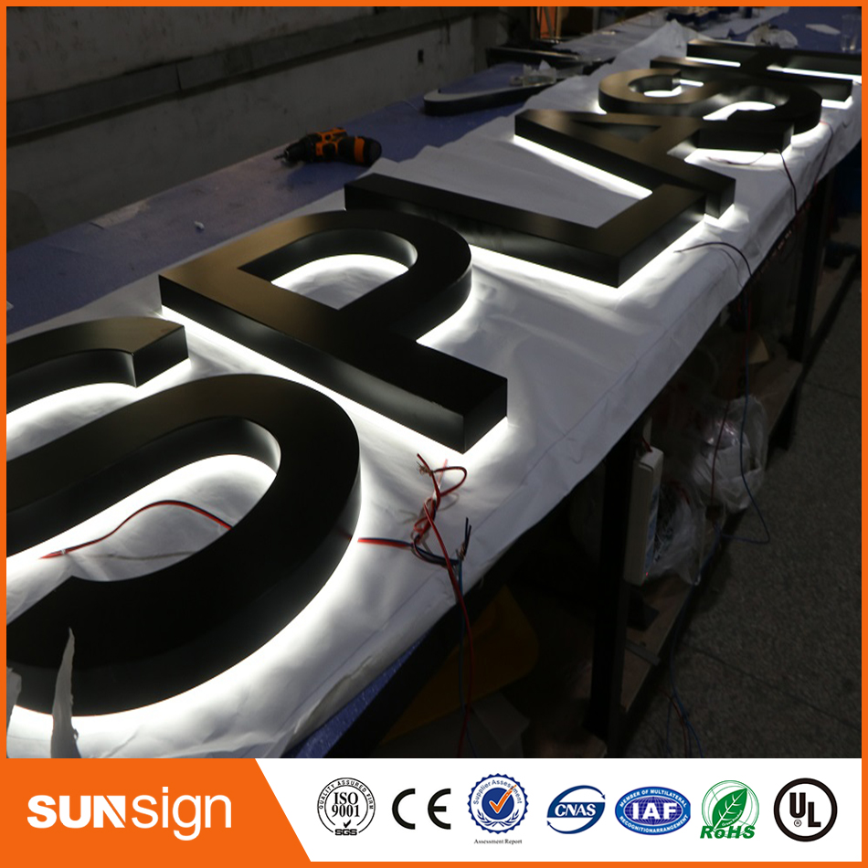 China Manufacturer OEM Custom Advertising Backlit Stainless Steel LED Letter Sign And 3d Sign Letters