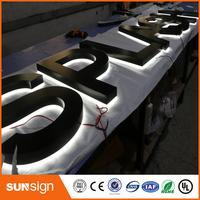 China Manufacturer OEM Custom Advertising Backlit Stainless Steel LED Letter Sign And 3d Sign Letters