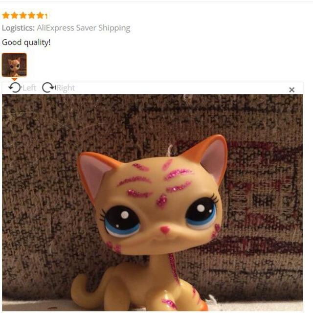 Pet Shop Lps Toys Short Hair Cat 2118 Yellow Kitten Glitter Sparkle