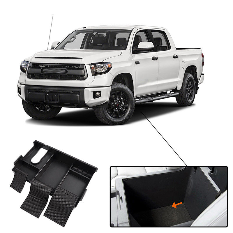Car Armrest Storage Box Center Console Container Organizer Tray For Toyota Tundra 2014 2015 2016 2017 2018 Interior Accessories