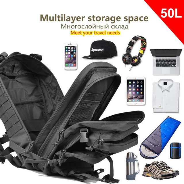 50L Tactical Backpack 3P Softback 2