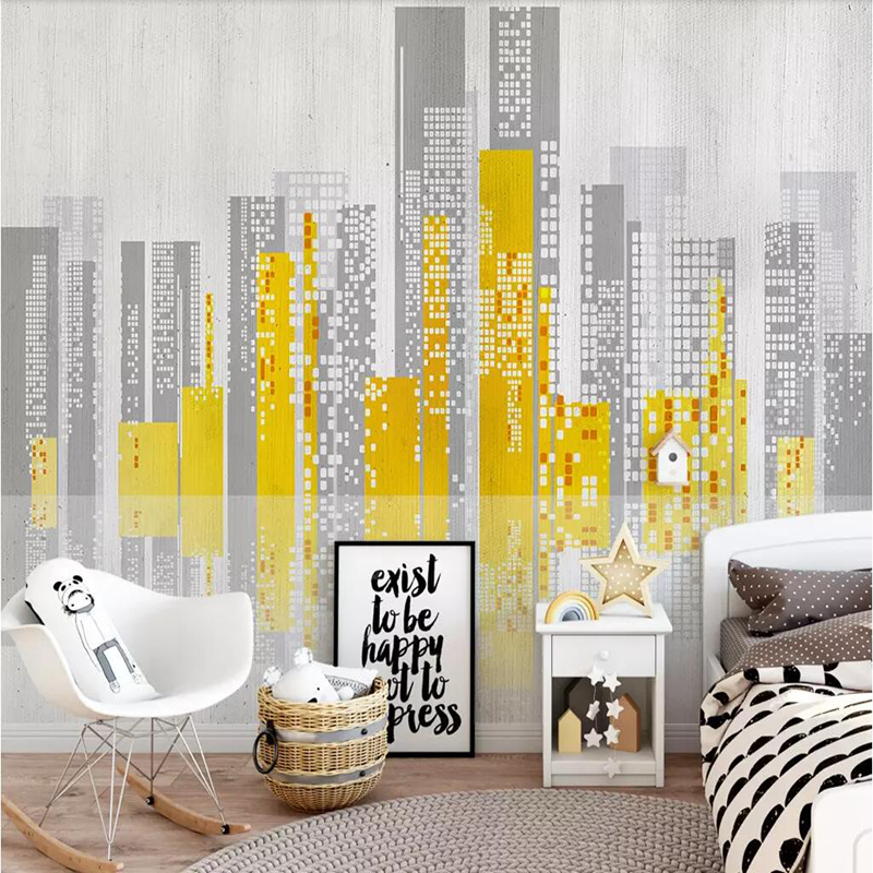 YOUMAN Custom 3D Non-woven Wallpaper Modern Nordic industrial Style Living Room TV Background Wall Decor Mural Wallpapers Decor custom any size modern wall wallpaper eiffel tower arches leaves luxury wall covering bedroom mural background wallpapers