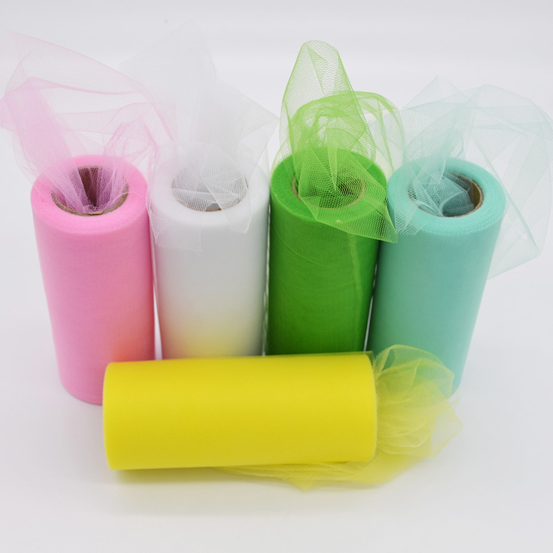 22meters*15cm Tulle Roll Crystal Organza Spool Tutu DIY Material Party Wedding Birthday Baby Shower Decoration Craft Supplies