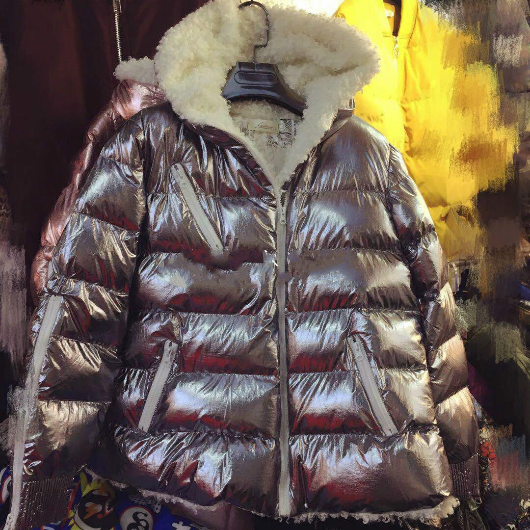 Ukraine Special Offer Solid Zipper Wide-waisted Full 2017 Winter New Woman Cotton Jacket Metallic Fashion Lamb Stitching Hooded offer wings xx2449 special jc australian airline vh tja 1 200 b737 300 commercial jetliners plane model hobby