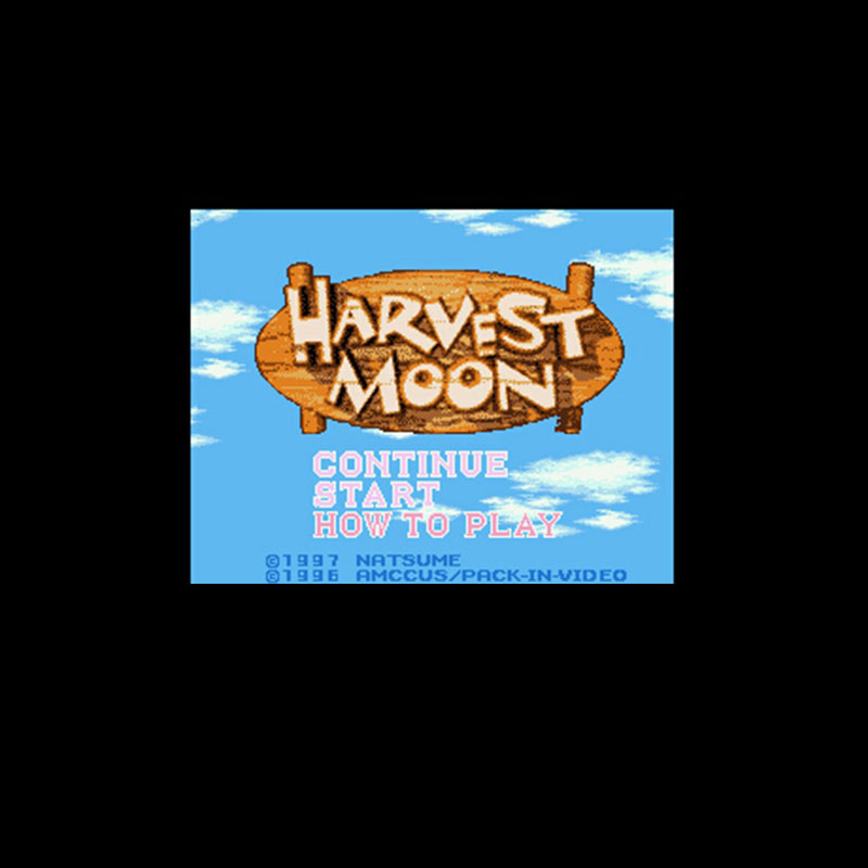Harvest Moon NTSC Version 16 Bit 46 Pin Big Gray Game Card For USA Game Players image