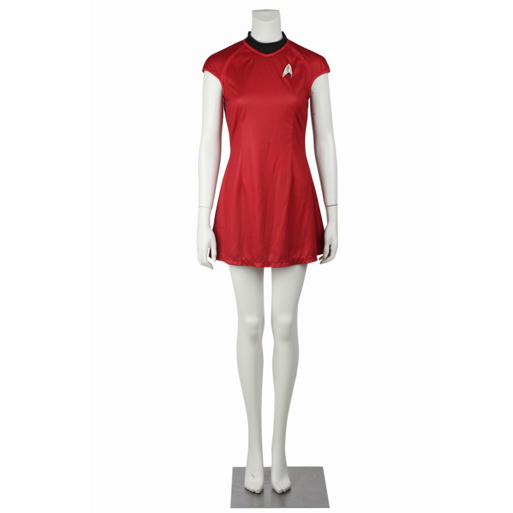 Star Trek Cosplay Costume Nyota Uhura Dress Clothing Women Sexy Red Dress Uniform For Halloween Party Custom Made