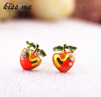 Fashion fashion accessories sweet cherry women's stud earring Factory Wholesale image