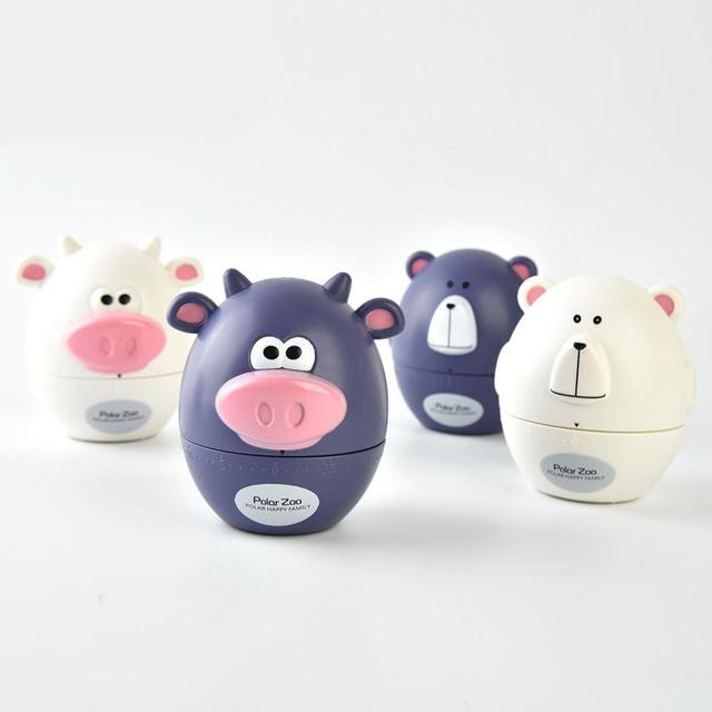 Pig Kitchen Fan For Exhaust Cartoon Timers Polar Zoo Timer Cute Cooking Gadget Tool Fun Collectible Supplies 30
