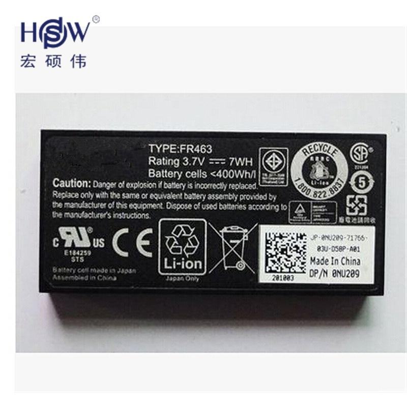 HSW battery 3.7V 7WH For DELL Perc 5i 6i Poweredge 1950 2900 2950 6850 6950 FR463 NU209 P9110 U8735 bateria