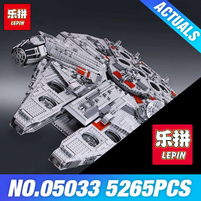 LEPIN 05033 Star 5265Pcs Wars Ultimate Millennium Collector's Falcon Model Building Kit Blocks Bricks DIY Toy Compatible 10179 lepin 05033 wars 5265pcs star ultimate 10179 collector s millennium toys falcon model building kit blocks bricks children toy
