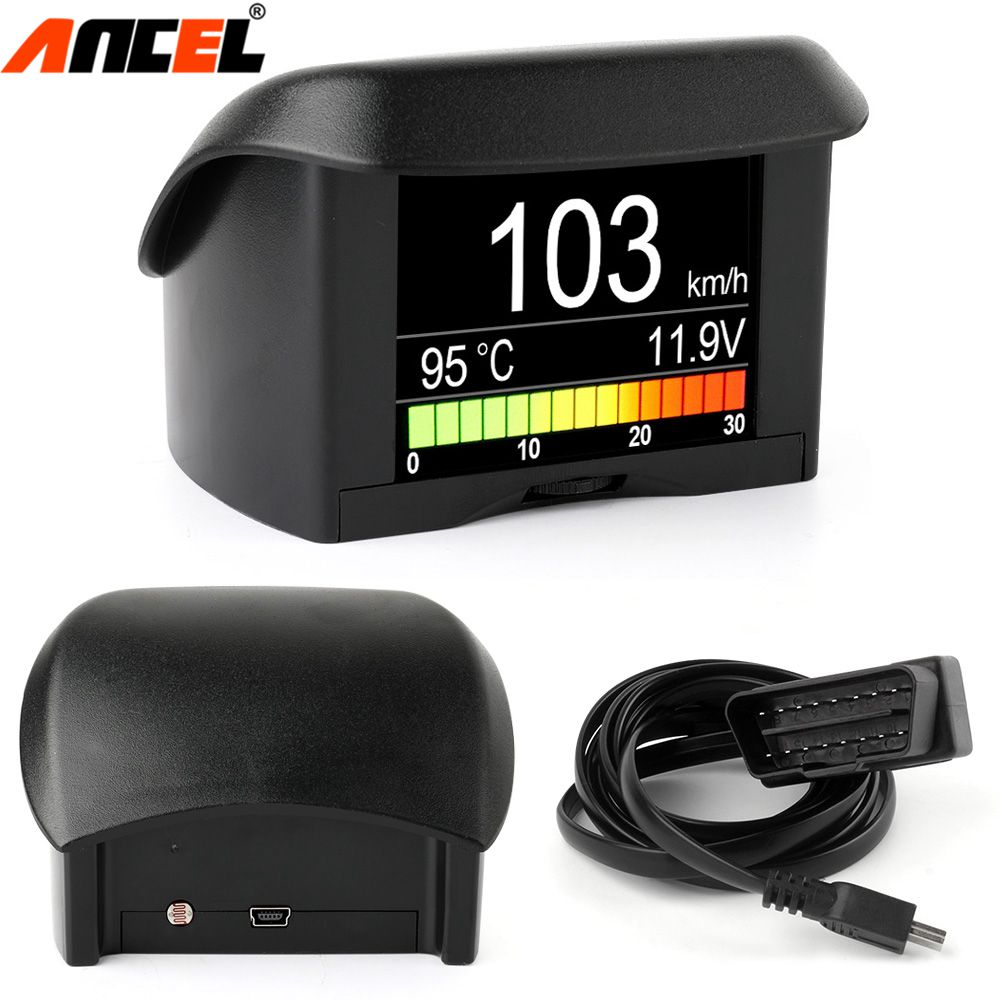Ancel A202 OBD2 Fuel Consumption Meter Car Onboard Computer Water Temperature Voltage Speed Small Digital OBD