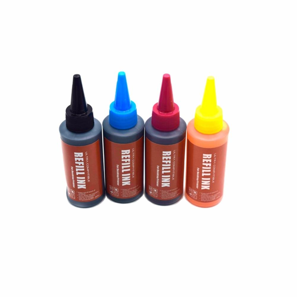 CK 4 Pcs Universal high quality 400ml K C M Y Refill Ink kit For HP