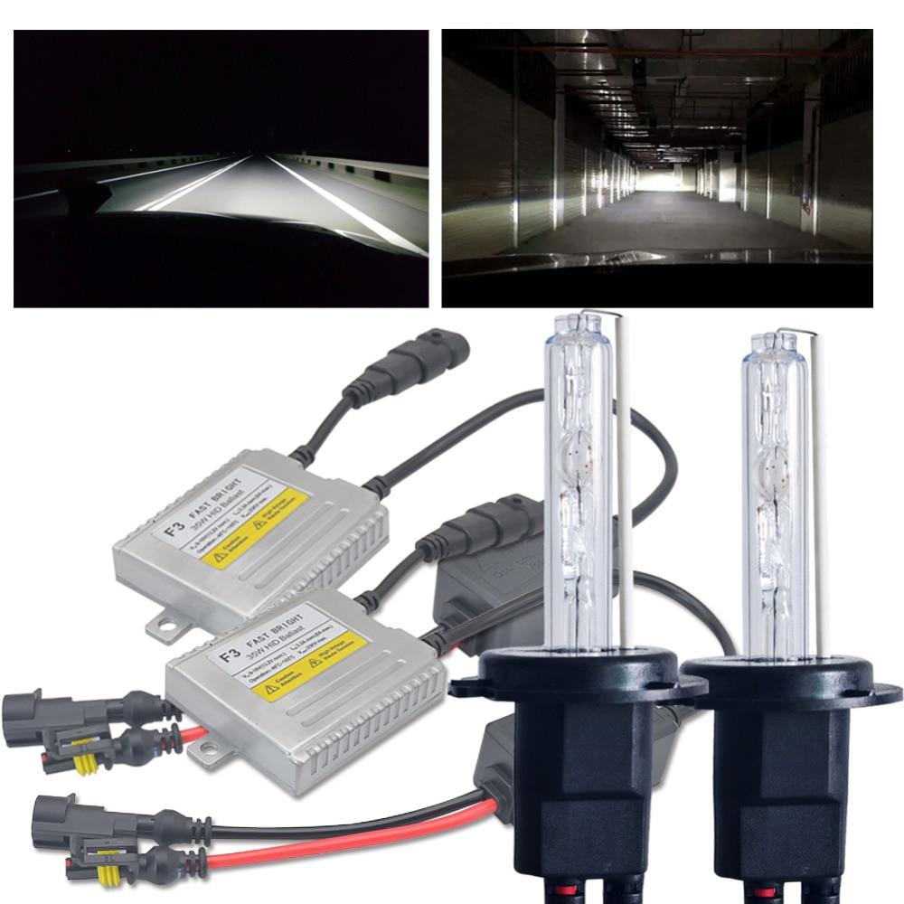 H4 Xenon H1 D2S H7 H11 H3 HB4 H8 HB3 9006 xénon ampoule pour la voiture Phare AC 35 W Rapide Lumineux ballast hid 4300 k 5000 k 6000 k 8000 K