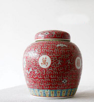 Antique colored glazing storage decorative storage jar