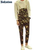 Men S Fashion Army Camouflage Slim Bib Overalls Casual Pockets Denim Jeans Jumpsuits