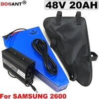 48 V 20Ah E-bike driehoek Lithium batterij 13 S 48 V 800 W 1500 W Elektrische Fiets batterij voor Samsung 18650 + een zak + 5A Charger