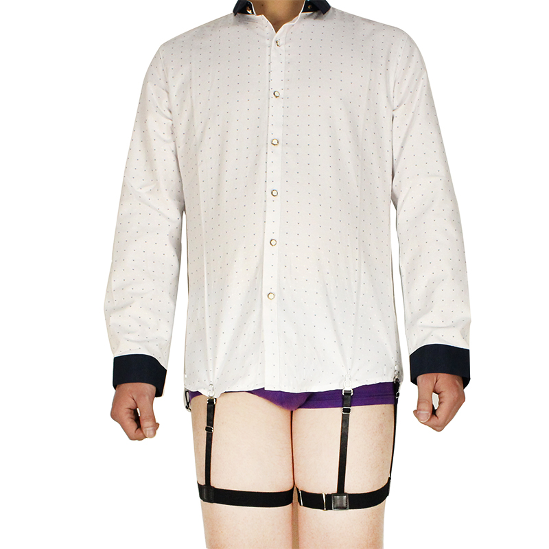 Brand Mens Shirt Stays Suspender Braces For Shirts Holder Gentleman Leg Elastic Women High Quality Garter Adjustable Suspenders Punctual Timing Men's Suspenders