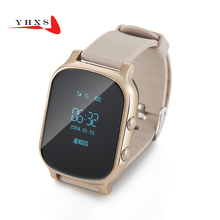 T58 Sensible Child Protected OLED Watch SOS Name GPS WIFI Location Finder Tracker for Youngster Elder Anti Misplaced Distant Monitor Child Wristwatch