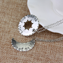 Moon of My Life & Sun and Stars Necklace – Perfect Gift for Couples
