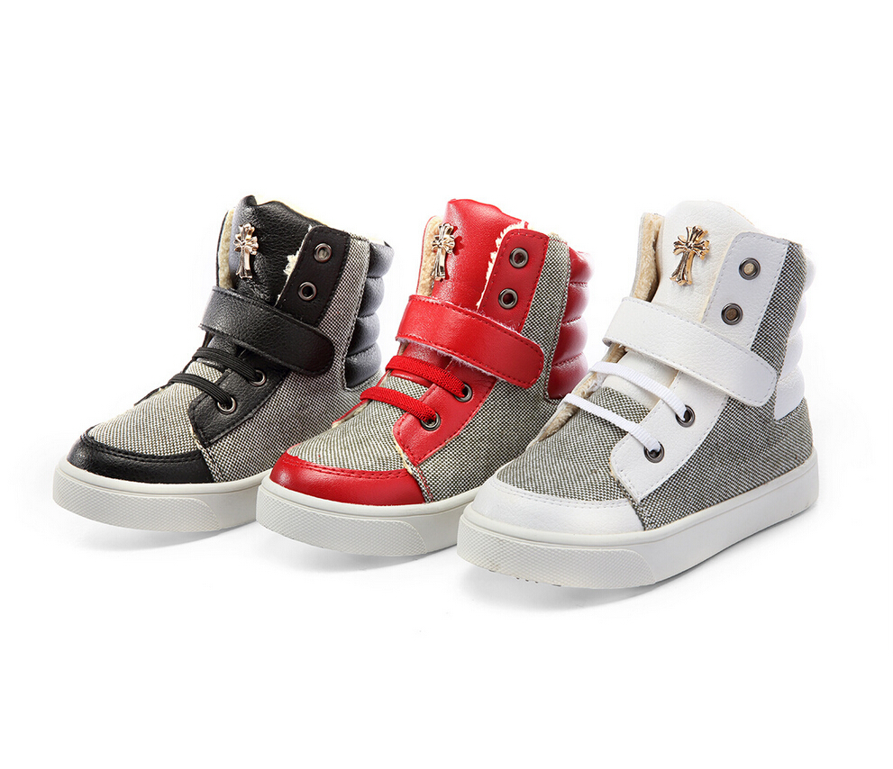 2015 Branded Kids Boots Top Leather Boots Children Shoes