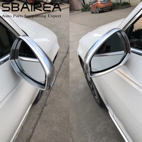 SBAIREA Silver A4 B9 Side Mirror Cover Replacement Left and Right A5 Rearview Door Wing Side Mirror Case 2016 2017 2018