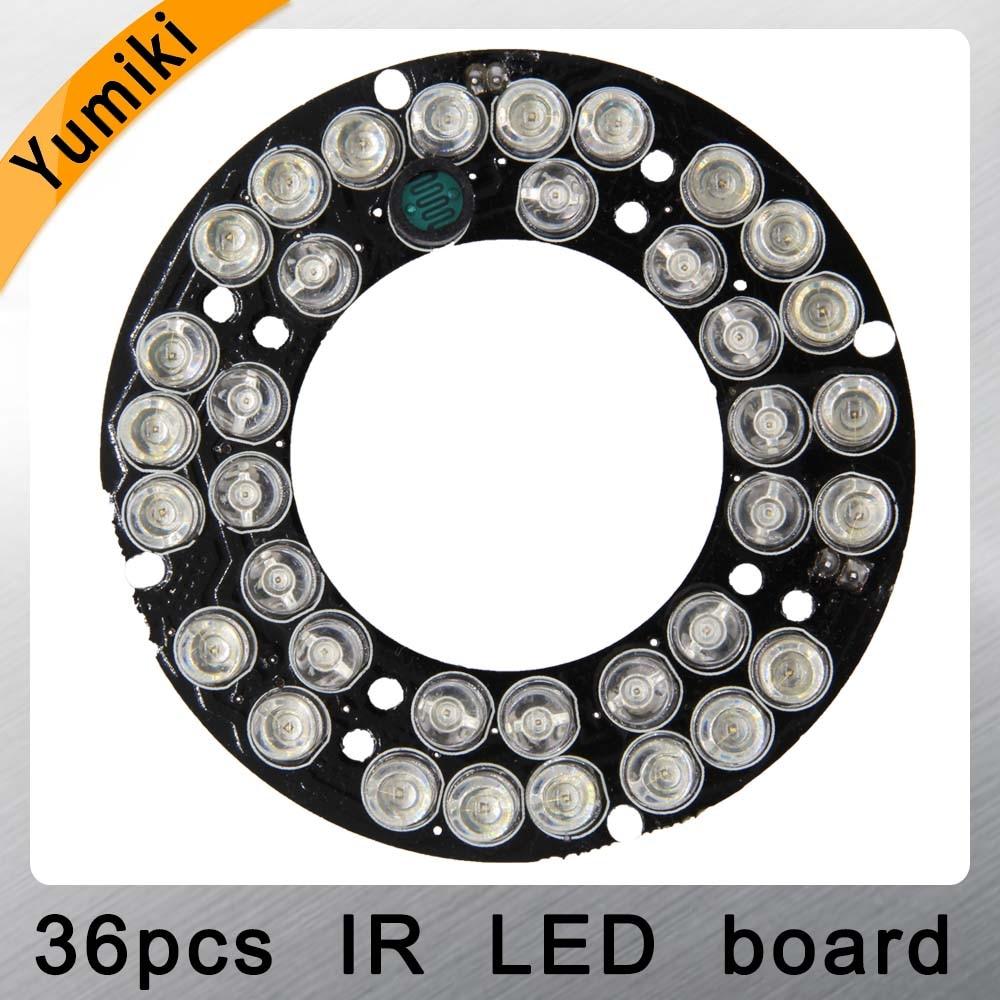 Yumiki Infrared 36pcs IR LED Board For CCTV Cameras Night Vision (diameter 60mm) For CS LENs