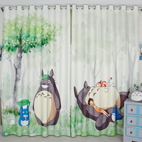 The New 3D Digital Printing Totoro Curtains Children Room Cartoon Shade Curtains Wholesale Customized