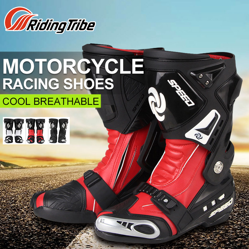Riding Tribe Motorcycle Riding Boots Motocross Off-road Racing Long Shoes Motorbike Accessories Boots Outdoor Sports Riding Men