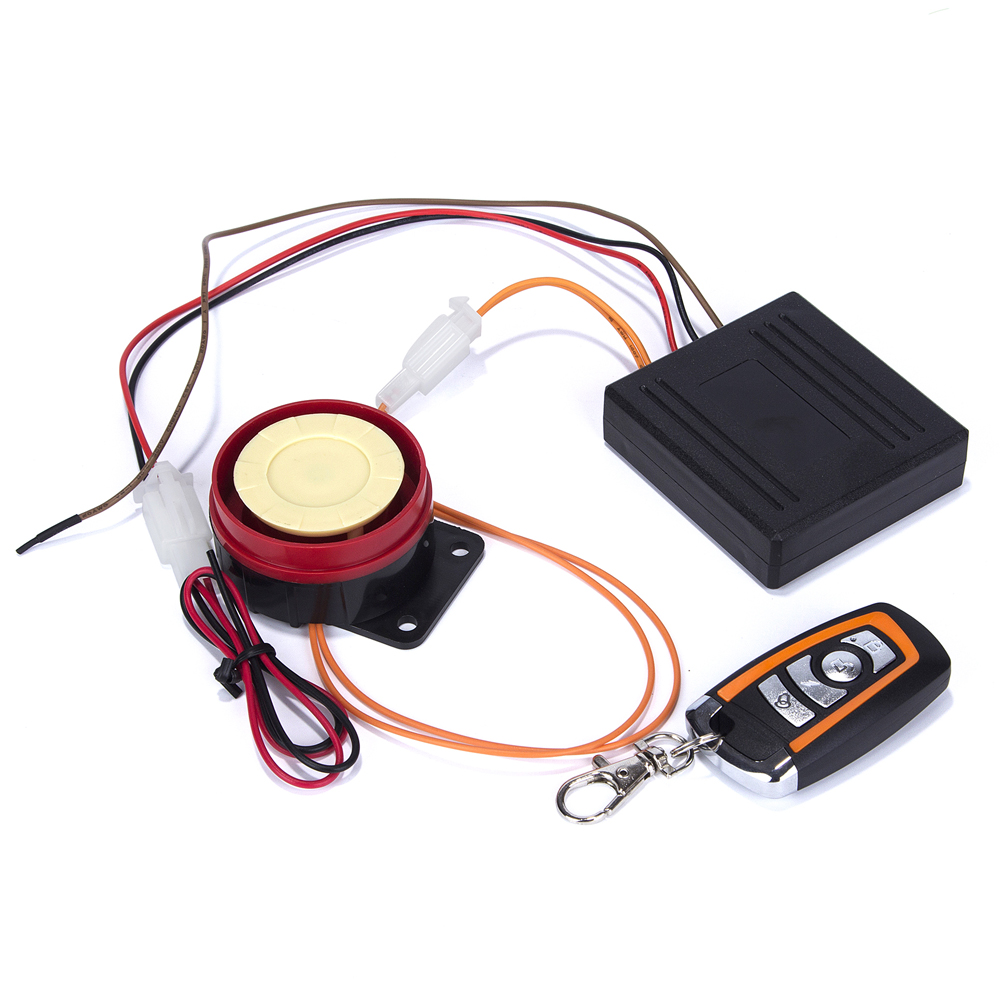 12V Motorcycle Scooter Autobike Anti theft Security Alarm System 12V Remote Control Engine Start Motorcycle Single Alarm in Burglar Alarm from Automobiles Motorcycles