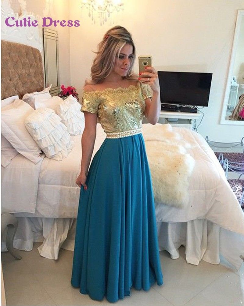 vestido de festa Sparkly Prom Dresses Off The Shoulder Sequined ...