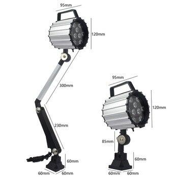 Led مصباح المرآب 9 W 24 V 220 V للماء IP67 ماكينة بتحكم رقمي بالكمبيوتر ضوء مخرطة طحن طحن الإضاءة ورشة عمل مستودع العمل مصابيح