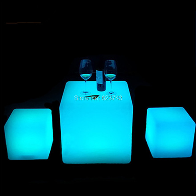 Led-Luminous-Light-Bar-Stool-Color-Changeable-Plastic-Cube-White-Chair
