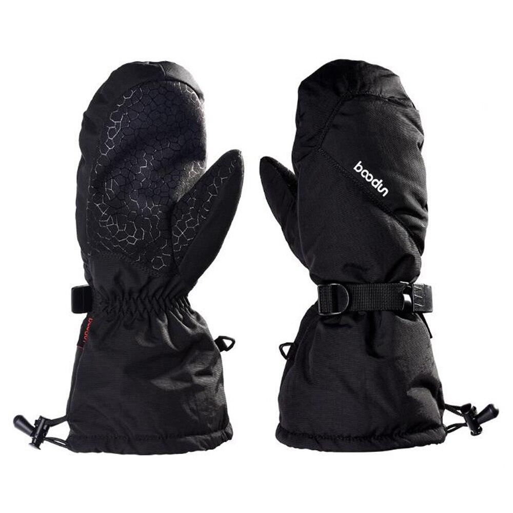 Long Wrist Warm Ski Gloves Windproof Snowmobile Snowboard Gloves Sports Waterproof Fleece Thermal Skiing Gloves