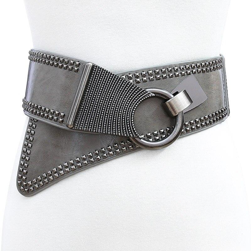 Female Cummerbund Slant Elastic Wide Waist Belts For Woman Women's Waistband Decoration Corset Belt Retro Punk Ceinture Corset