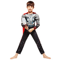 2017 Classic Boys Girls Thor The Avengers Muscle Cosplay Halloween Costumes Kids Children Carnival Party Fancy