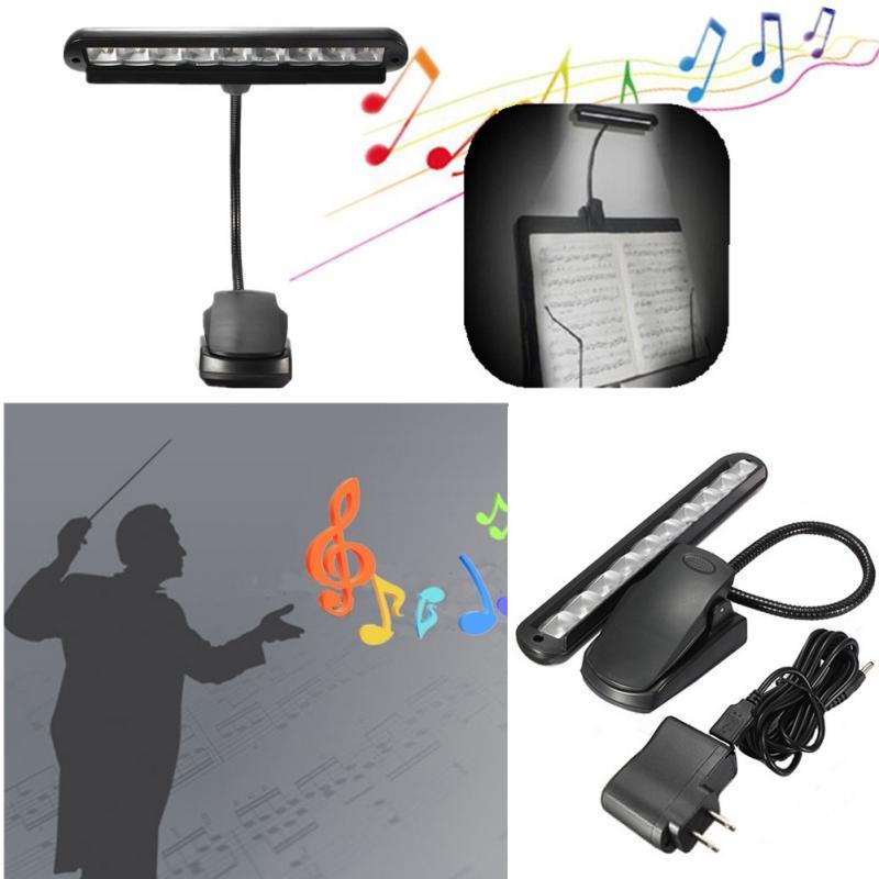 Tragbare Flexible 9 Leds Clip-auf Orchester Musik Stehen Klavier Tisch Lampe Kinder Kinder Lesen Führte Licht Mit Uns Standard Adapter 100% Garantie Lampen & Schirme