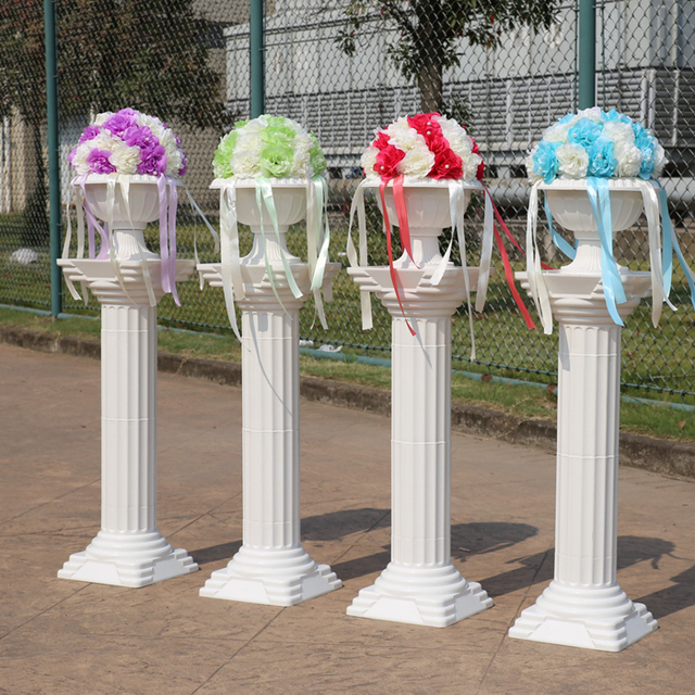 Beautiful The wedding arrangement Wedding plastic Roman pillars column  ZM89